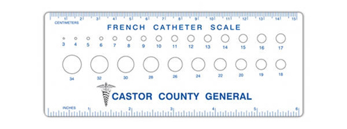 Custom Imprinted Promotional French Catheter Scales